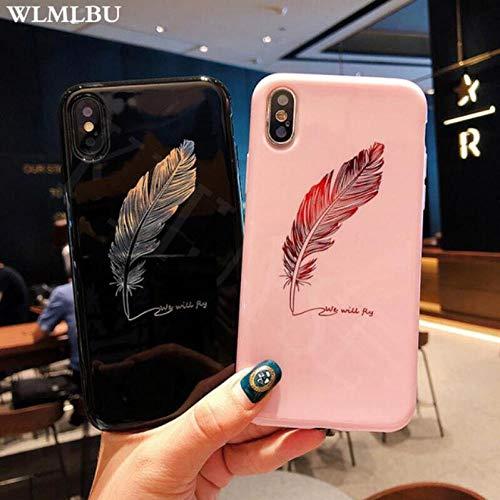 Hexiaoyi Fundas de Silicona for iPhone 7 8 Plus XS MAX XR XS Fundas de teléfono con Letras for iPhone X 8 7 6 6S Plus Fundas traseras de TPU Suave (Color : Black, Size : For iPhone XS MAX)