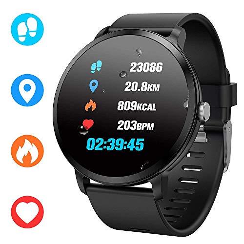 ahanzhu Fitness Tracker, Reloj Inteligente, rastreador de Actividad con Monitor de Ritmo cardíaco, Contador de calorías, Monitor de sueño, cronómetro y cronómetro para Mujeres Hombres