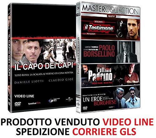 Il Capo dei Capi + L'ultimo Padrino Paolo Borsellino Eroe Borghese Testimone (5 Film 7 DVD) Edizione Italiana