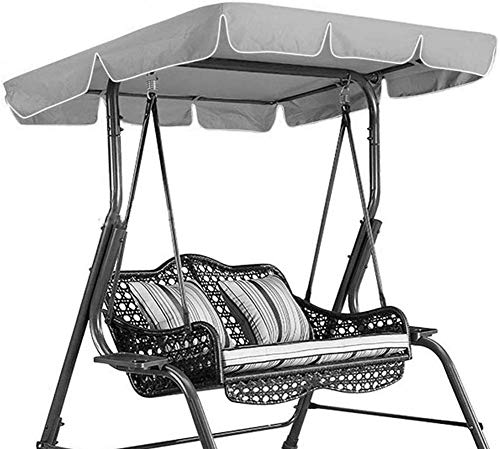 Replacement Canopy for Swing Seat 2 & 3 Seater Sizes Hammock Cover Top Garden Outdoor, Replacement Canopy Top Cover With 4 Reinforced Corner Pockets, Waterproof