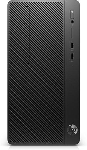 HP 290G23.6GHz i3–8100Micro Tour Noir PC–Ordinateur de Bureau (3,6GHz, 8e génération de processeurs Intel® Core ™ i3, 4Go, 1000GB, DVD Super Multi, Windows 10Pro)