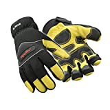RefrigiWear Fiberfill Insulated Tricot Lined High Dexterity Work Gloves (Gold/Black, Large)