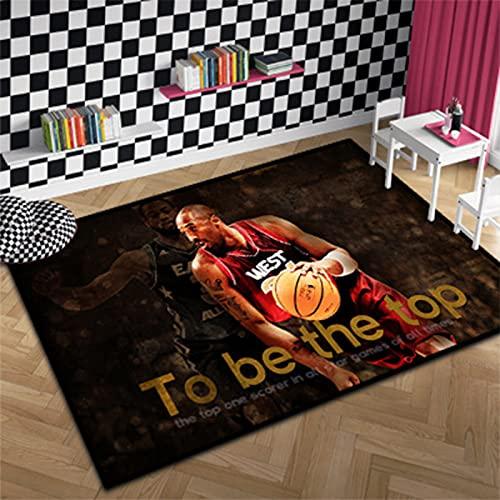 Lakers 24#Kobe - Alfombra grande de baloncesto para decoración del hogar, color negro Mamba, tapete de yoga, tapete de sala de juegos para niños, niños, grils dormitorio, Kobe3-60 x 90