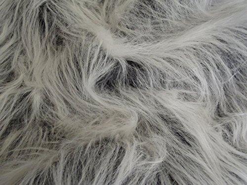 CRS Fur Fabrics Material de tela de piel sintética de pelo largo, acrílico, Escarcha Negra, 1Mtr - 150cm x 100cm