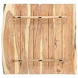 vidaXL Massivholz Tischplatte Baumkante Massivholzplatte Akazie 80x(50-60) x2,5cm - 3