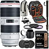 Canon EF 70-200mm f/2.8L is III USM Zoom Lens, Sandisk 64GB U3 Card, Backpack & Accessory Bundle