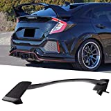 OUWTE Stem Spoiler, Shiny Black for Type-r Style Wings fit for Civic Hatchback 2016-2020