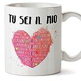 Mugffins Tazza San Valentino (Ti Amo) - tu Sei Il Mio Cuore - Idee Regali Anniversario Originali per...