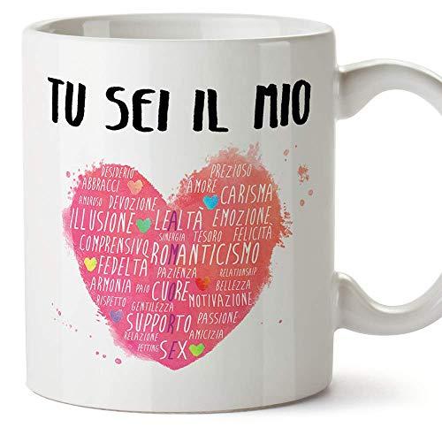 MUGFFINS Tazza San Valentino (Ti amo) - tu sei il mio cuore - Idee Regali Anniversario Originali per Lui/per Lei/Ragazzi/Fidanziati