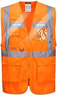 Portwest L476ORRL Orion LED Executive Weste, L, orange
