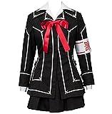 Poetic Walk Vampire Knight Yuki Cosplay Costume Day Class Girls Uniform (Medium, Black)