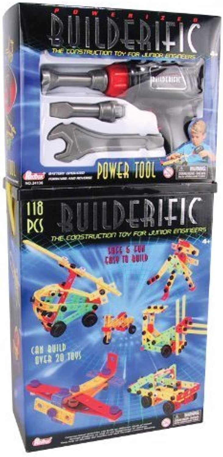 MotorMax 118 piece Builderific with 4 Piece Power Tool Set by Motormax