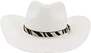 LiWen Zheng Cowboy Hat Male Outdoor Visor Beach Hat Leather Belt Decoration Women Big Sun Hat