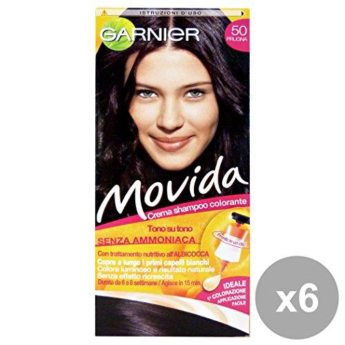 Movida Set 6 50 Prugna Senza Ammoniaca Prodotti per Capelli