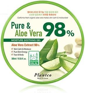 [PLANTCO] 1 Pack Pure & Aloe Vera 98% Moisture Soothing Gel 300ml / Halal Certified/Face, Body, Hair Moisturizing