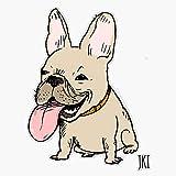 Funny French Bulldog Cartoon Dog Sticker Vinyl Waterproof Sticker Decal Car Laptop Wall Window Bumper Sticker 5