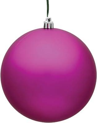 "Vickerman Ball Ornament, 8"", Fuchsia"