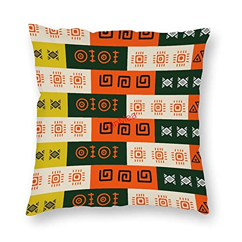VinMea Funda de almohada decorativa con patrón bohemio, fundas de cojín para sofá, dormitorio, hogar, oficina, decoración de 40,6 x 40,6 cm