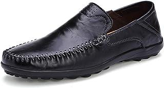OUTVIE Pantoufles pour Hommes Chaussures de Conduite en Cuir Marin