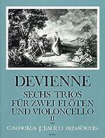 DEVIENNE - Trios (6) Op.19 Vol.2: nコ 4 a 6 para 2 Flautas y Violoncello (Partes) (Pauler)