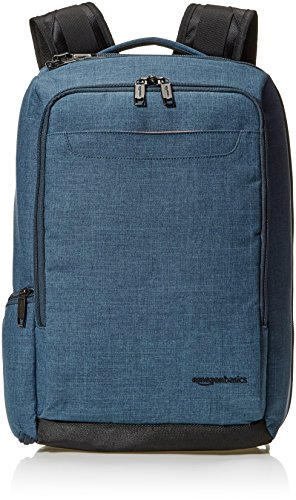 AmazonBasics Slim Carry On Travel Backpack, Green - Overnight