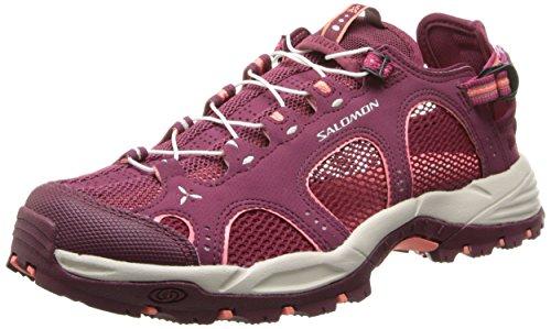 Salomon Techamphibian 3, Chaussures de Marche nordique femme, Violet (Bordeaux/Carmine/Melon Bloom), 36 2/3