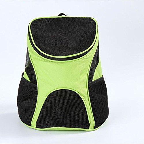Yihiro 犬 猫用ペットキャリー 軽い 人気ペット鞄 キャリーバッグ リュック おしゃれ リュック レディース 中型犬 携帯しやすい アウトドア 旅行 お出かけ便利 通気性抜群 メッシュ (グリーン)