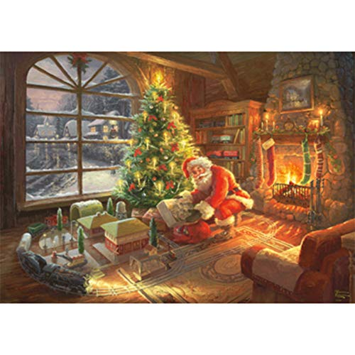 Puzzle Santa Claus 1000 Piezas Descompresión Juguete Adulto 70 * 50cm