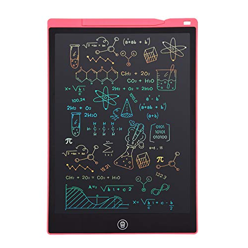 LCD Writing Tablet, Electronic Digital Writing &Colorful Screen Doodle Board, cimetech 12-Inch Handwriting Paper Drawing Tablet Gift for Kids and Adults at Home,School and Office (Pink)
