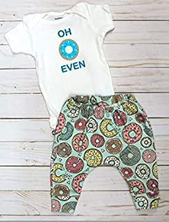 Oh donut even baby outfit, Gerber Onesies® bodysuit and leggings donut outfit