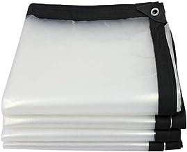 Zeildoek en transparante multifunctionele zeil, UV en scheurbestendig zeil, versterkte rand met grommet,5x10