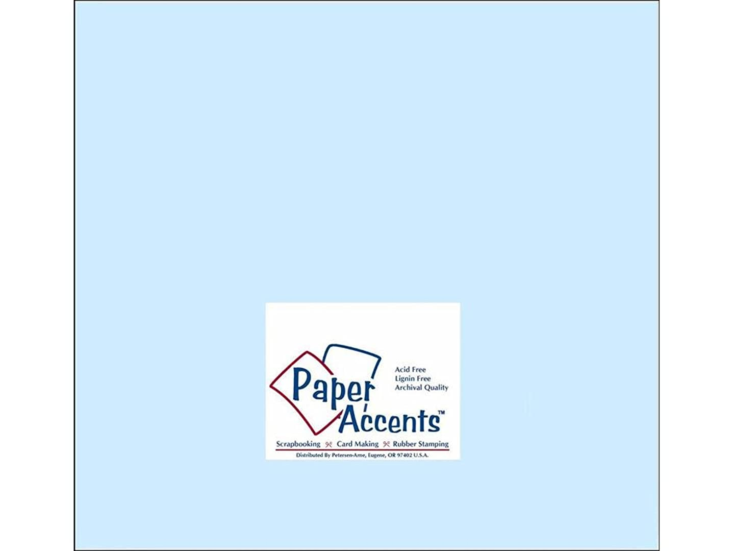 Accent Design Paper Accents Cdstk Smooth 12x12 60# Baby Blue tmw097149975