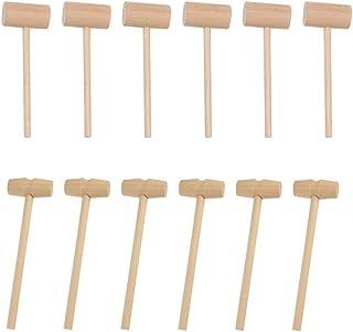 HEMOTON 20Pcs Mini Wooden Mallet Hammer Toys Massage Tool Craft Handcraft Toys Children Educational Toy