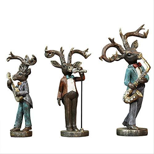 GIAO Figurines Decor Eenvoudige Moose Band Ornamenten Thuis Woonkamer Decoratie TV-kabinet Wijnkast Zachte Decoratie