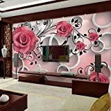 Hhkkck3Dステレオ抽象花壁画壁紙リビングルームベッドルーム家の装飾写真壁紙ロール3D部屋風景-280X200Cm