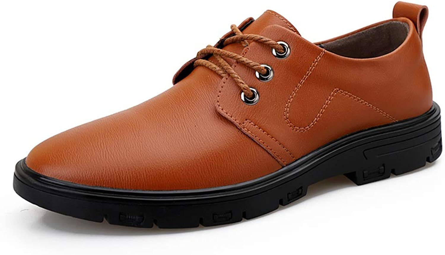 SRY-Fashion shoes Oxford shoes for Men Stately shoes Lace Up Style OX Leather Classic Solid color Insouciant Business Outsole