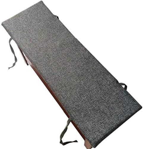 l.e.i. Outdoor Indoor Long Bench Cushion Pillow Pad Window Seat Cushions Garden Pallet Cushions Patio Furniture Cushions(Dark Grey,100x35cm)