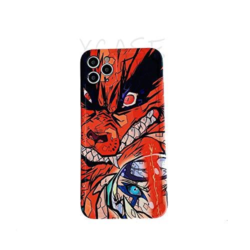 Wyalm Hot Anime Naruto Kurama Demon Slayer Fairy Tail Thone Funda para iPhone 12 11 Pro X XS MAX XR 7 8 Plus Silicon Soft Funda (Color : 2, Size : IphoneXR)