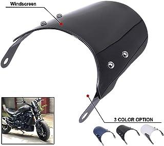 Motorcycle Windshield Headlight Windscreen Cafe Racer Fairing For Triumph Bonneville T100 - Black
