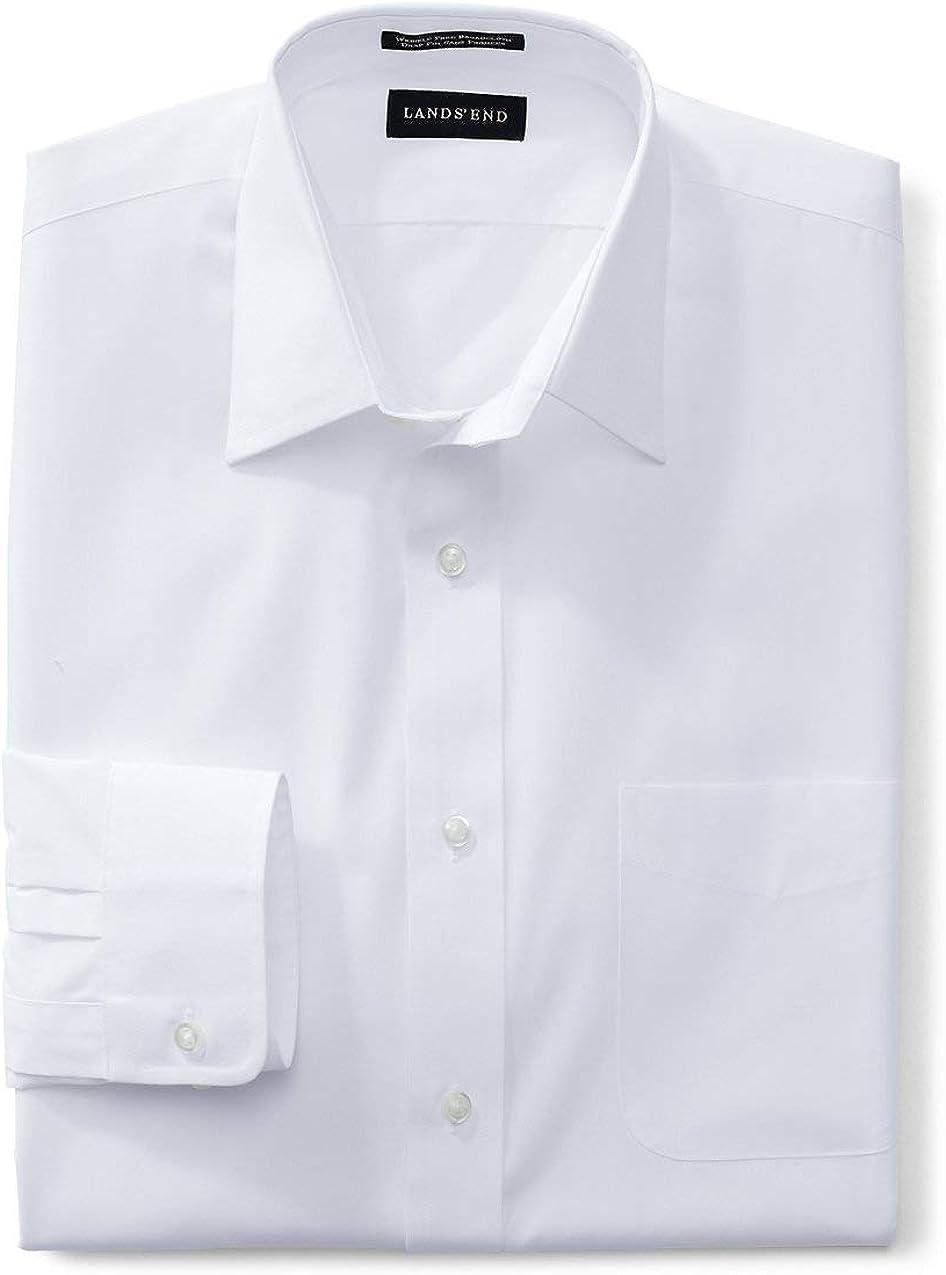 Lands' End Men's Long Sleeve Straight Collar Broadcloth Dress Shirt