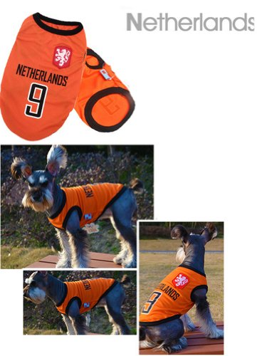 [Pays-Bas] Lovely Dog Apparel Pet Vêtements pour animal domestique de football Vêtements, taille L