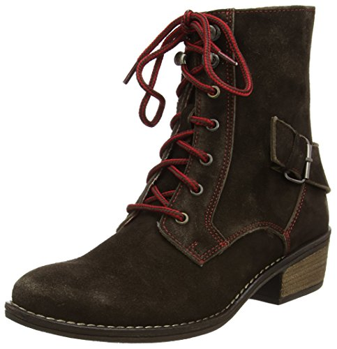 Stockerpoint Damen Schuhe 7060 Biker Boots, Braun (moor gespeckt), 36 EU