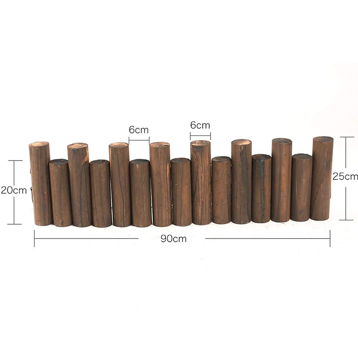 JIANFEI 木製 ボーダーフェンス ガードレール アウトドアデコレーション 風景 防水 パインウッド 、9つのサイズ 、タイプ2 (色 : 1pcs, サイズ さいず : 90x25cm)