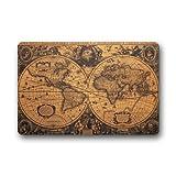 Doormat Custom Machine-Washable Door Mat Old Vintage World Map Indoor/Outdoor Decor Rug 23.6'(L) x 15.7'(W)