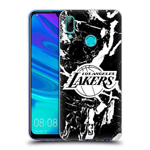 Head Case Designs Oficial NBA Mármol 2019/20 Los Angeles Lakers Carcasa de Gel de Silicona Compatible con Huawei P Smart (2019)