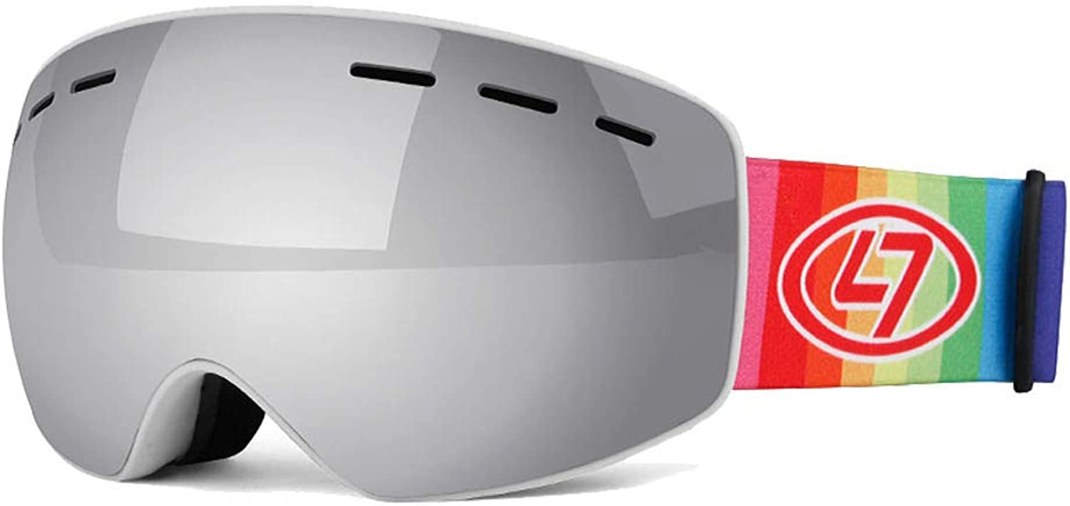 Kids Ski Goggles for Boys and Girls Helmet Compatible Snow Goggles with 100% UV Predection & AntiFog