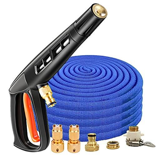 UOEIDOSB Tubo Flessibile Per Lavaggio Auto Ad Alta Pressione Espandibile Spray Regolabile Pistola Per La Pulizia Del Tubo Flessibile Per Irrigazione Del Giardino Di Casa (Color : 25ft)