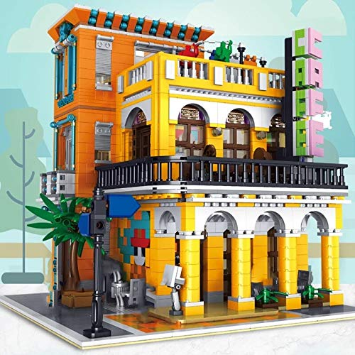 Moc City Street View Series The Town Hospital University Post Model Kit Bloques de Construcción Ajuste Creator Expert Ladrillos Juguetes DIY Regalos 3158pcs