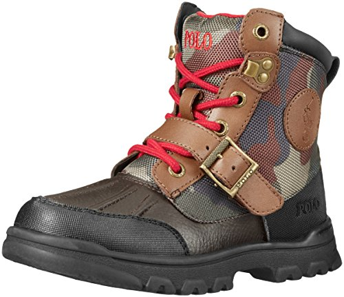 Polo Ralph Lauren Kids Colbey Boot Boot (Toddler/Little Kid/Big Kid),Chocolate/Army Camouflage,4 M US Toddler