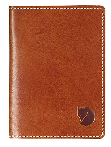 Fjallraven Leather Passport Cover Wallets and Small Bags, Unisex Adulto, Leather Cognac, OneSize